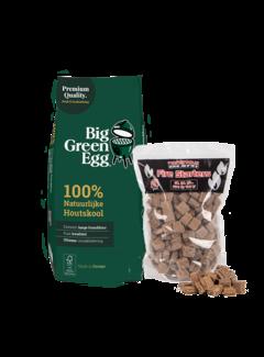 Big Green Egg Big Green Egg Houtskool / Aanmaakblokjes Deal 9 kg