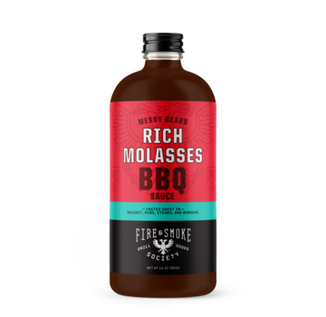 Fire&Smoke Fire & Smoke Messy Beard Stout Beer Coffee & Molasses BBQ Sauce 16.4 oz