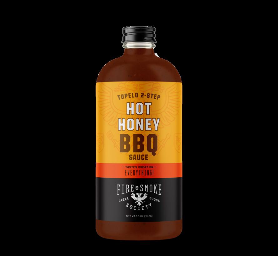 Fire&Smoke Tupelo 2-Step Hot Honey BBQ Sauce 16.4 oz