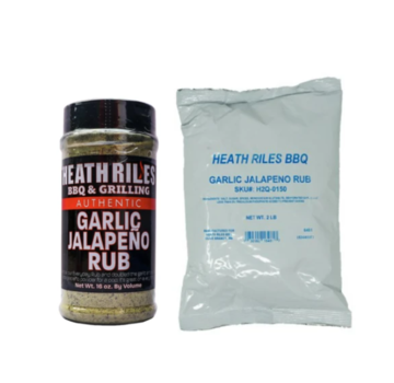 Heath Riles Heath Riles Garlic Jalapeno Rub 16 oz + Refill Bag 2 lb Combo