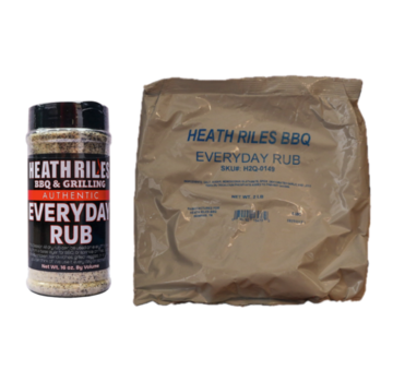 Heath Riles Heath Riles BBQ Everyday Rub Shaker 16 oz + Refill Bag 2 lb Combo