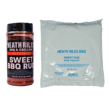 Heath Riles Heath Riles Sweet BBQ Rub Shaker 16oz + Refill Bag 2 lb Combo