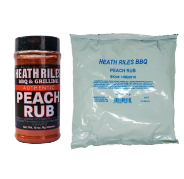Heath Riles Heath BBQ Riles Peach BBQ Rub Shaker 16 oz + Refill Bag 2 lb Combo