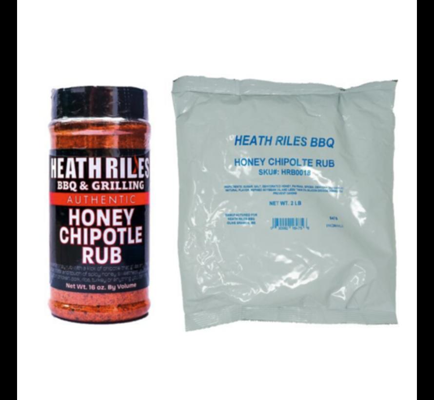 Heath Riles Honey Chipotle BBQ Rub Shaker 16 oz + Refill Bag 2 lb Combo