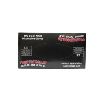 Vuur&Rook Vuur&Rook Nitrile Gloves Xtra Strong Black 100 pieces XLarge