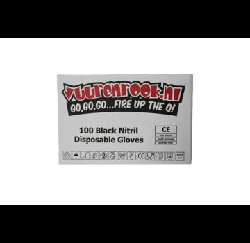 Vuur&Rook Vuur&Rook Nitrilhandschuhe Xtra Strong Black 1000 Stück Large