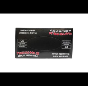 Vuur&Rook Vuur&Rook Nitril Handschoenen Xtra Strong Zwart 100 stuks Medium