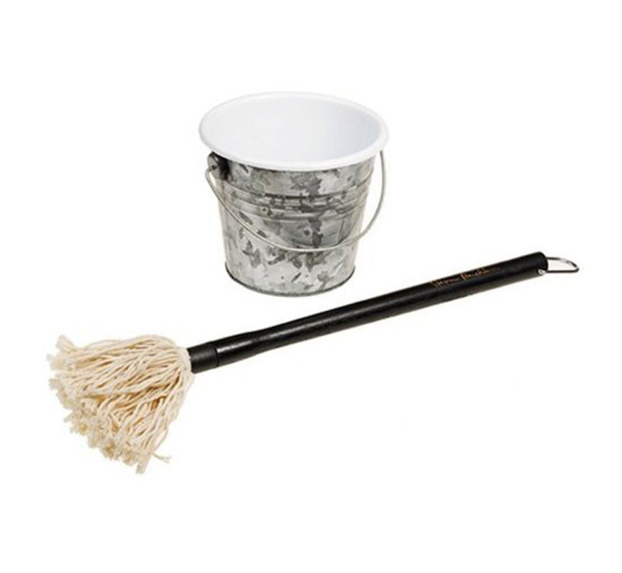 Steven Raichlen Sauce Mop Plus Bucket