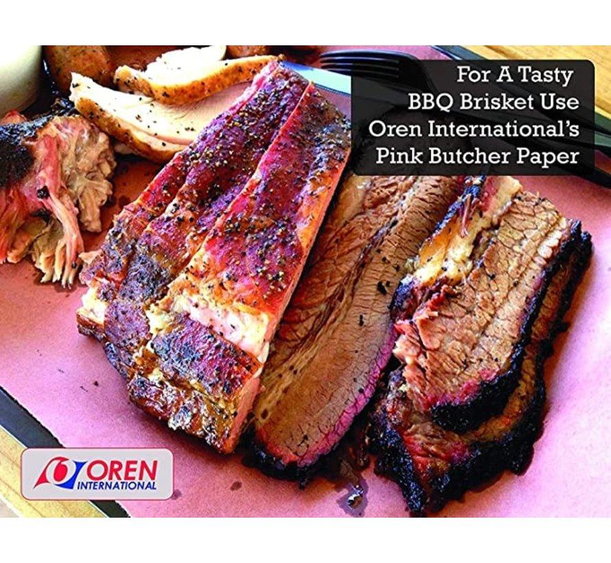 Oren USA Pink Butcher Paper 61 cm x 45 m (24'' x 150')