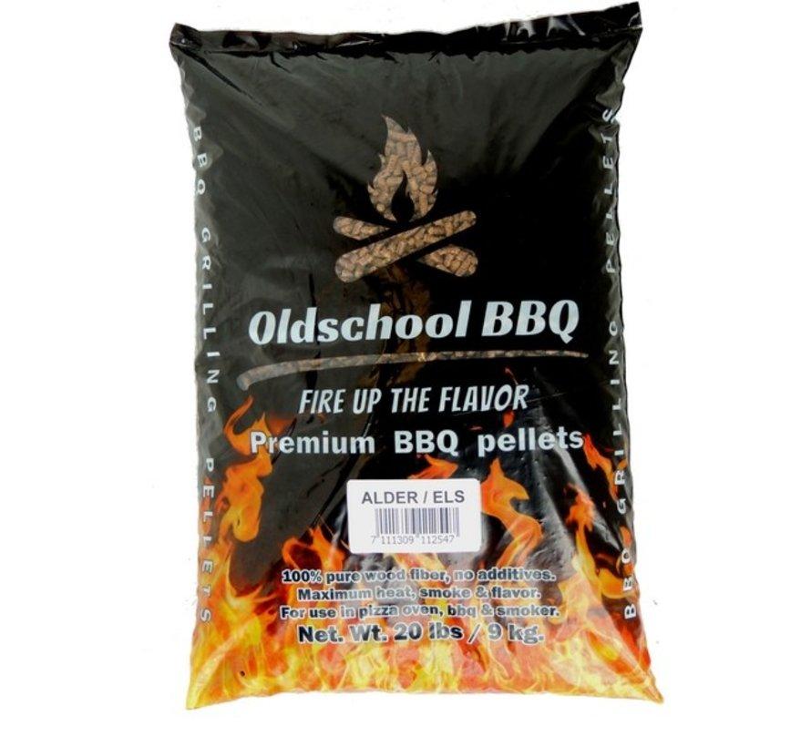 Oldschool BBQ Pellets Alder 9 kg