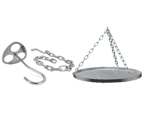 Petromax Petromax D-Ring Driepoot Plaat met Haak en Ketting / Rooster Deal