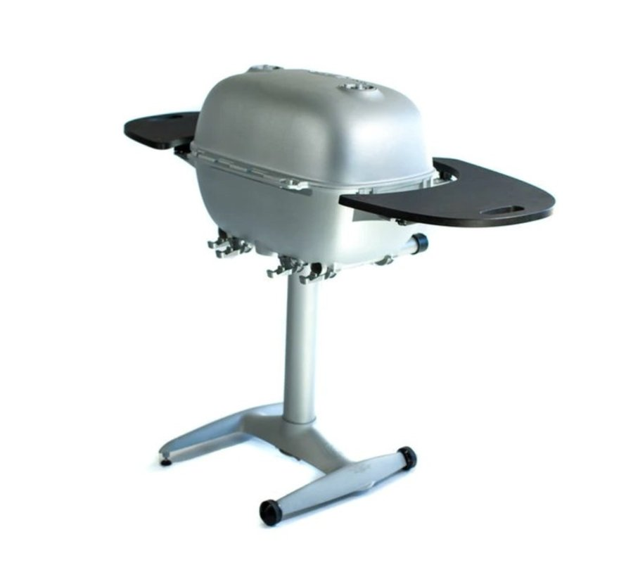 PK360 Grill & Smoker Silver with PVC side tables