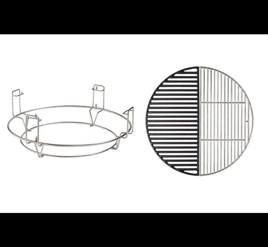 Kamado Joe Diver & Conquer Systeem / RVS  / Gietijzeren Rooster Deal
