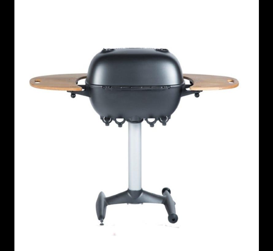 PK360 Grill & Smoker Graphite met Teakhouten Zijtafels