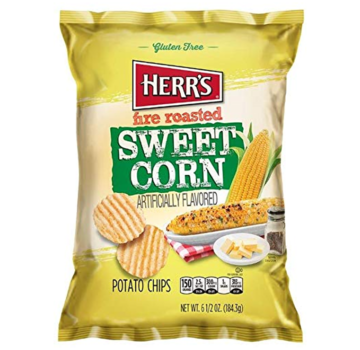 Herrs Herr's Fire Roasted Sweetcorn Chips 184 Gramm