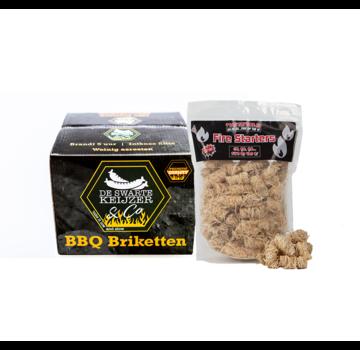 De Swarte Keiijzer De Swarte Keijzer & Co Premium Quality BBQ Briquettes / Wooden Fire Starters Deal 10 kg