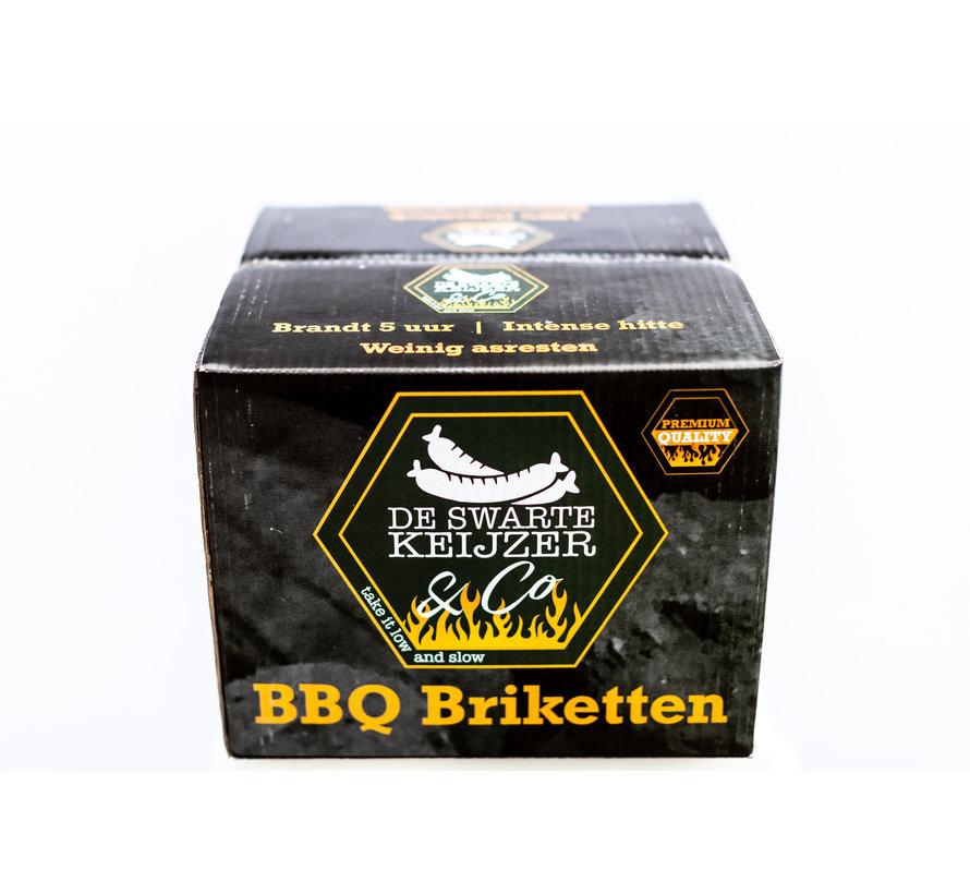 De Swarte Keijzer & Co Premium Quality BBQ Briketten Tubes 2 x 10 kg Deal
