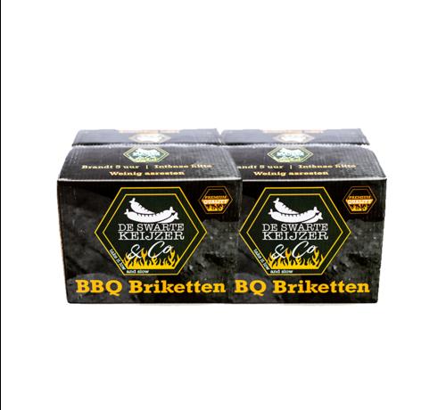 De Swarte Keijzer & Co De Swarte Keijzer & Co Premium Quality BBQ Briketten Tubes 2 x 10 kg Deal