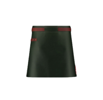 Witloft Witloft Green/Congac Leather Apron Short Waist Down Leather Collection
