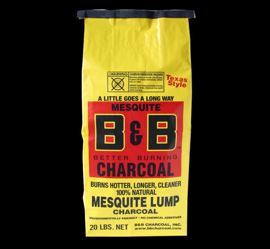 B&B Mesquite Lump Charcoal / Wokkels Deal 9 kg