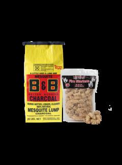 B&B B&B Mesquite Lump Charcoal / Wokkels Deal 9 kg