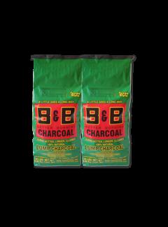 B&B B&B Hickory Lump Charcoal 2 x 9 kg Deal