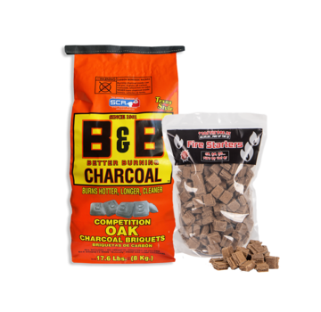 B&B B&B Oak Briquettes 8 kg / Firestarters Deal