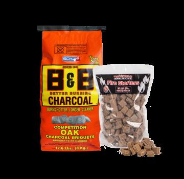 B&B B&B Oak Briquettes / Aanmaakblokjes Deal 8 kg