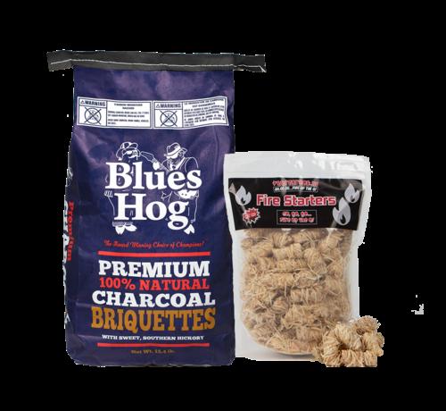 Blues Hog Blues Hog All Natural Hardwood Charcoal Briquettes 7 kg / Wokkels Deal