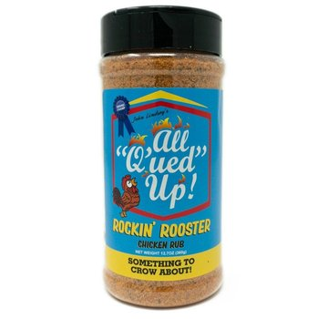 All Q'ued Up Alles Q'ued Up! Rockin 'Rooster 12.7 oz