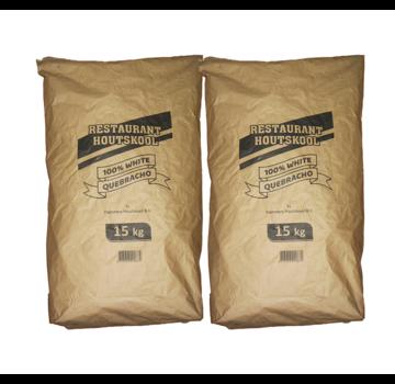 Dammers Dammers Restaurant Charcoal 100% Weißer Quebracho 2 x 15 kg Deal
