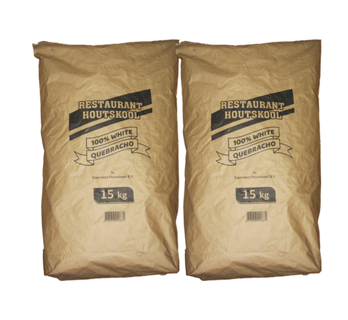 Dammers Dammers Restaurant Houtskool 100% White Quebracho 2 x 15 kg  Deal