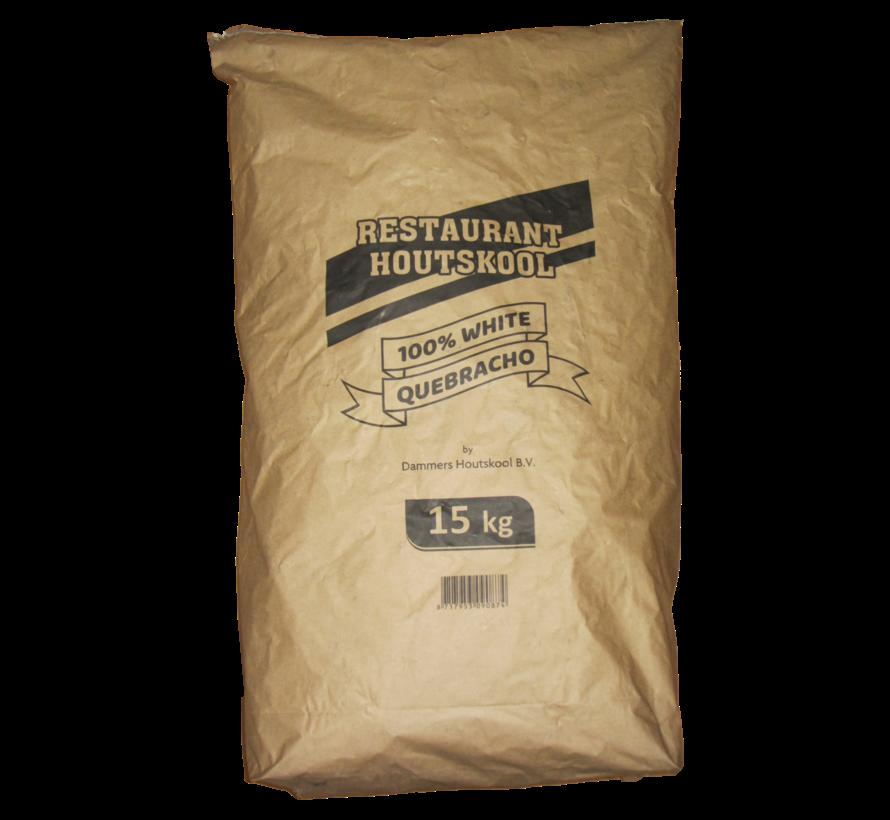 Dammers Restaurant Houtskool 100% White Quebracho / Wokkels Deal 15 kg