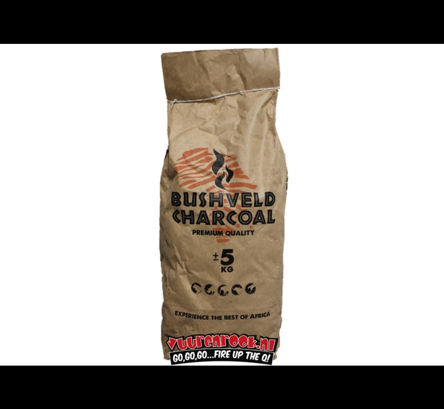 Bushveld Charcoal / Aanmaakblokjes Deal 5 kg