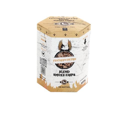 Vuur&Rook Smokey Goodness Feathers on Fire Smoke Chips blend Apple, Cherry, Hickory & Oak 1600 ml