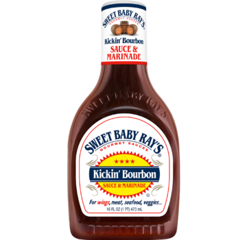 Sweet Baby Ray's Sorry We Lose The Date... Sweet Baby Ray's Kickn' Bourbon Wing Sauce 16oz