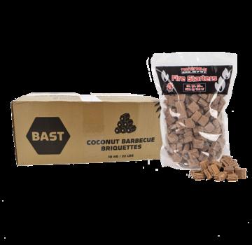 Bast Bast Coconut Briquettes Tubes 10 kg / Firelighters Deal