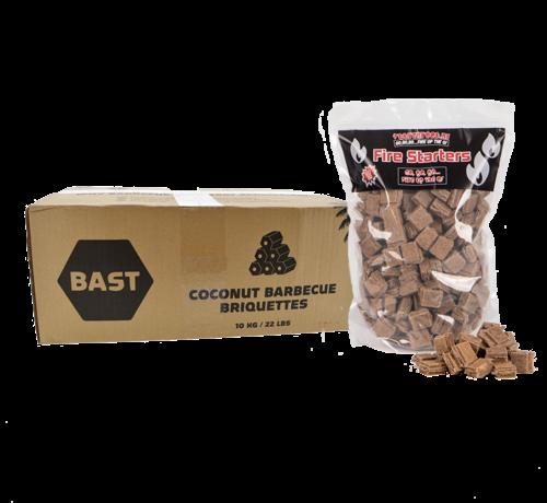 Bast Bast Kokosbriketten Tubes 10 kg  / Aanmaakblokjes Deal