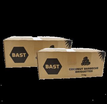 Bast Bast Coconut Briquets (Tubes) 2 x 3 kg Deal