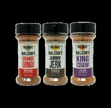 Malcom's Malcom's BBQ Rub Deal 3 x 5 oz