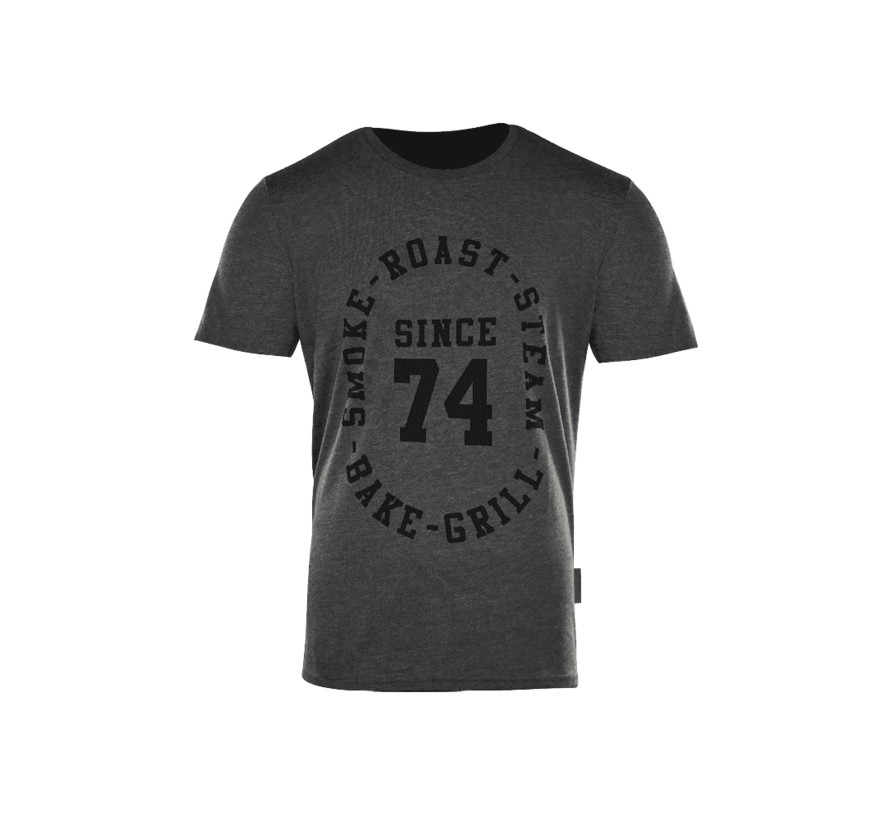 Big Green Egg T-Shirt Since 74' Houtskool Grijs
