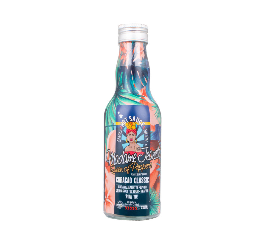 Madame Jeanette Hot Sauce Curacao Classic 200 ml