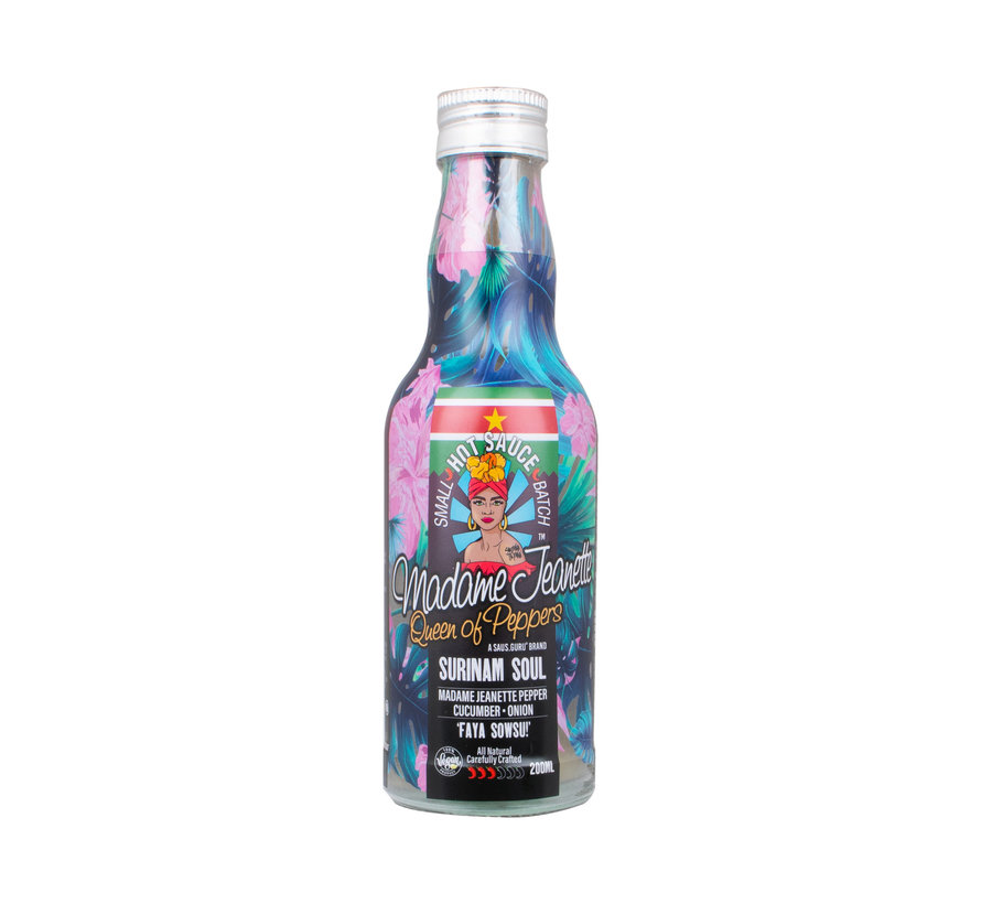 Madame Jeanette Hot Sauce Suriname Soul 200 ml