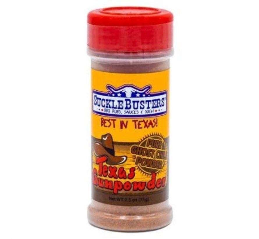 Sucklebusters Texas Gunpowder Pure Ghost Chile Powder 2.5 oz