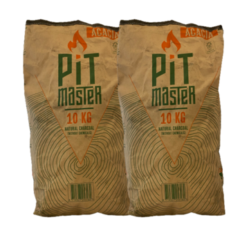 Pitmaster Lump Pitmaster Acacia Restaurant Grade Charcoal 2 x 10 kg Deal