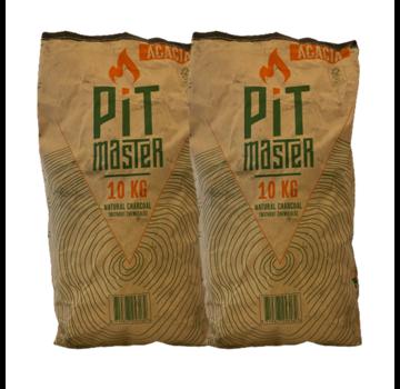 Pitmaster Lump Pitmaster Acacia Restaurant Grade Houtskool 2 x 10 kg Deal