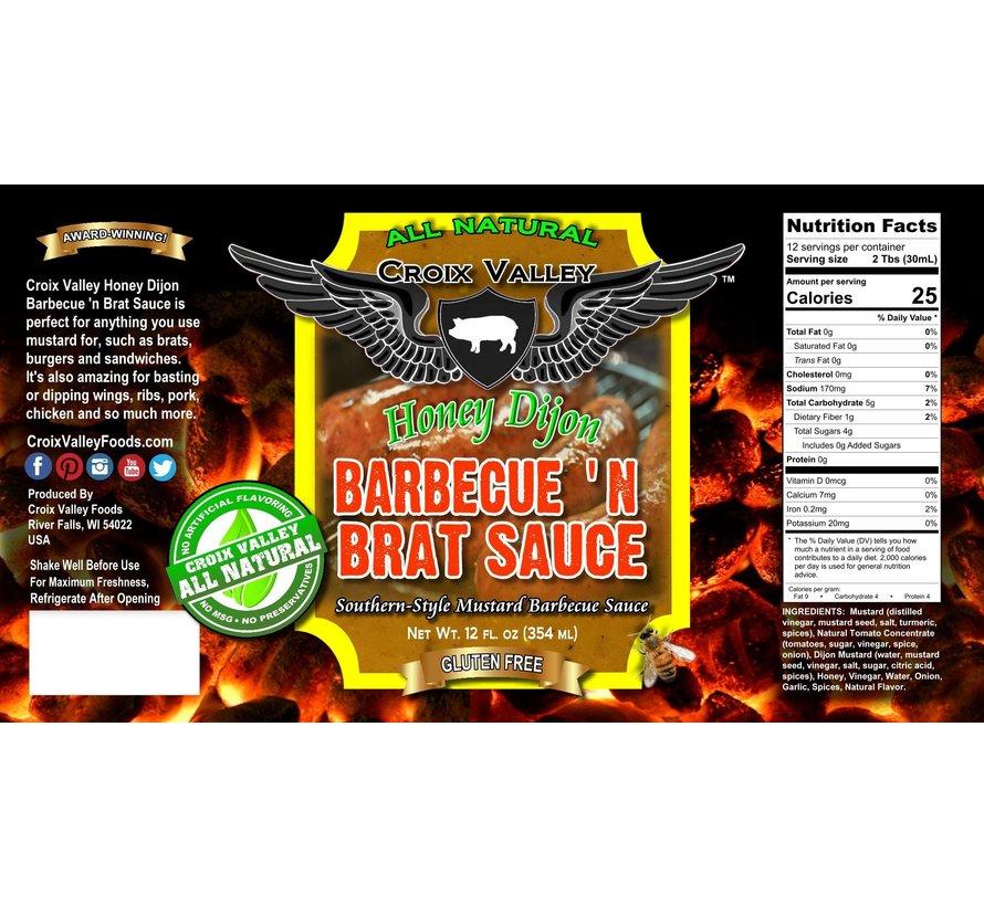 Croix Valley Honey Dijon Barbecue 'n Brat Sauce 12 oz