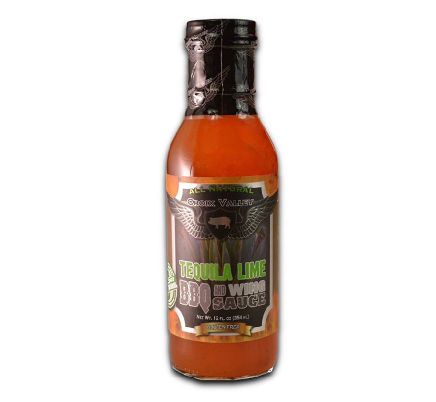 Croix Valley Tequila Lime BBQ & Wing Sauce 12 oz
