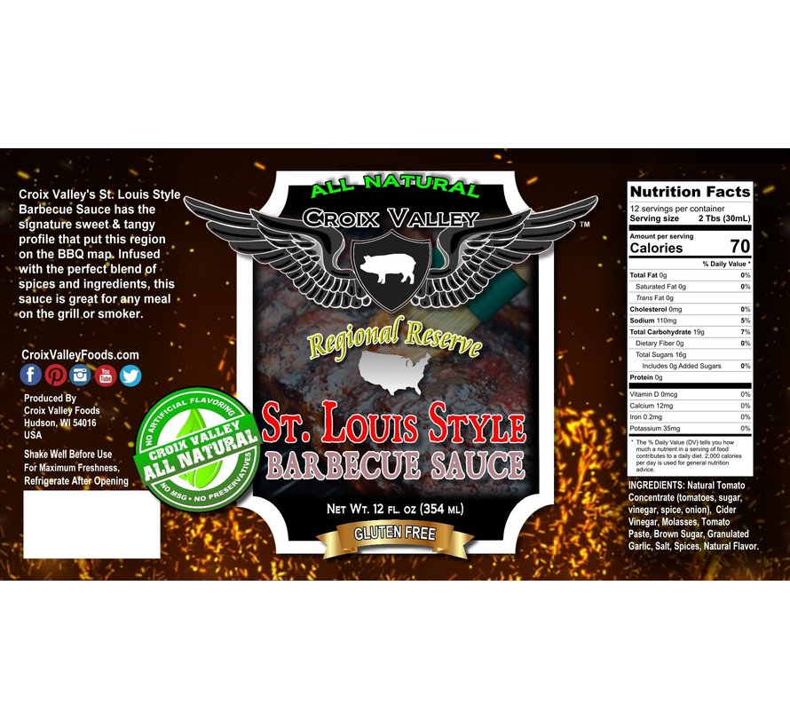 Croix Valley St. Louis Style Barbecue Sauce 12 oz