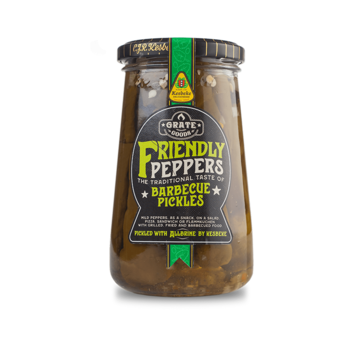 Grate Goods Grate Goods Friendly Peppers Barbecue Pickles 300 Gramm